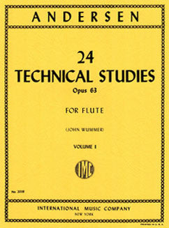 Andersen, J. - 24 Technical Studies, Op. 63: Vol I - FLUTISTRY BOSTON