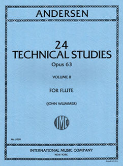 Andersen, J. - 24 Technical Studies, Op. 63: Vol II - FLUTISTRY BOSTON