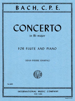 Bach, C.P.E. - Concerto in B flat major - FLUTISTRY BOSTON