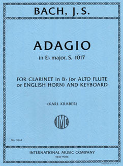Bach, J.S. - Adagio in Eb major, s. 1017 for Alto Flute