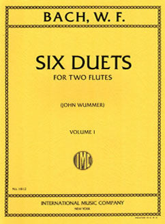 Bach, W.F. - Six Duets: Vol. I - FLUTISTRY BOSTON