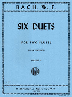 Bach, W.F. - Six Duets: Vol. II - FLUTISTRY BOSTON
