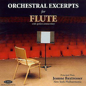 Orchestral Excerpts for Flute CD (Jeanne Baxtresser) - FLUTISTRY BOSTON