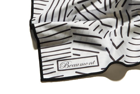 Beaumont Large Microfiber Cloth - Mostly White - FLUTISTRY BOSTON