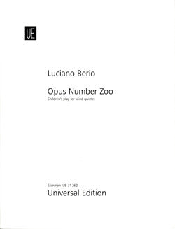 Berio, L. - Opus Number Zoo, Parts - FLUTISTRY BOSTON