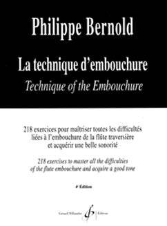 Bernold, P. - La Technique d'embouchure - FLUTISTRY BOSTON