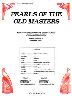 Pearls of the Old Masters, Vol. I - Piano Accompaniment - FLUTISTRY BOSTON