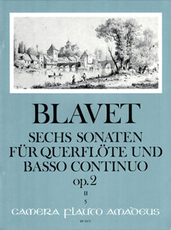 Blavet, M. - Six Sonatas for Flute and Basso Continuo 4-6, Op. 2 - FLUTISTRY BOSTON