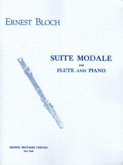 Bloch, E. - Suite Modale - FLUTISTRY BOSTON