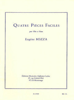 Bozza, E. - Quatre Pieces Faciles - FLUTISTRY BOSTON