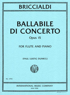 Briccialdi, G. - Ballabile Di Concerto - FLUTISTRY BOSTON