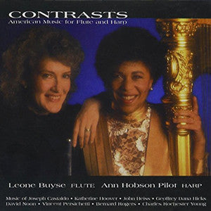 Contrasts, American Music for Flute and Harp CD (Leone Buyse) - FLUTISTRY BOSTON