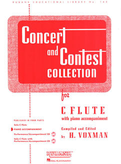 Concert & Contest Collection - Piano Accompaniment - FLUTISTRY BOSTON