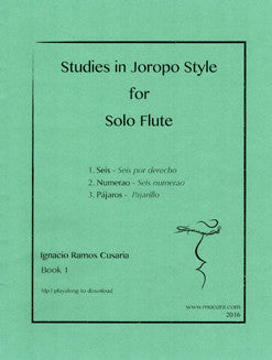 Cusaria, I. - Studies in Joropo Style for Solo Flute - FLUTISTRY BOSTON