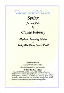 Blocki/Ewell - Syrinx, Rhythmic Teaching Edition - FLUTISTRY BOSTON