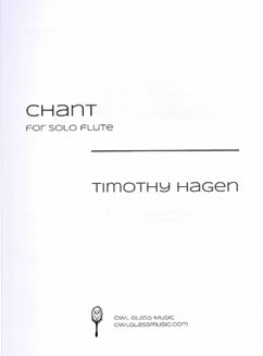 Hagen, T. - Chant for solo flute - FLUTISTRY BOSTON