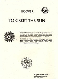 Hoover, K. - To Greet The Sun