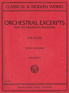 Orchestral Excerpts from the Symphonic Repertoire - Vol 4 - FLUTISTRY BOSTON