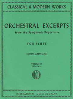 Orchestral Excerpts from the Symphonic Repertoire - Vol 3 - FLUTISTRY BOSTON