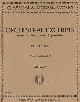 Orchestral Excerpts from the Symphonic Repertoire - Vol 5 - FLUTISTRY BOSTON