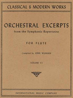 Orchestral Excerpts from the Symphonic Repertoire - Vol 6 - FLUTISTRY BOSTON