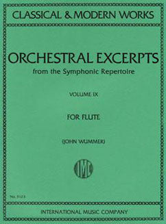 Orchestral Excerpts from the Symphonic Repertoire - Vol 9 - FLUTISTRY BOSTON