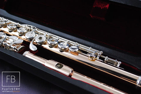 Burkart Elite Flute - 9k Gold on Silver - FLUTISTRY BOSTON