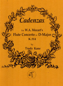 Kane, T. - Cadenzas for W.A. Mozart's Flute Concerto in D major