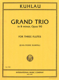 Kuhlau, F. - Grand Trio in B minor, Op. 90 - FLUTISTRY BOSTON