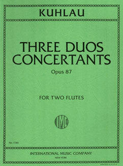 Kuhlau, F. - Three Duos Concertants, Op. 87 - FLUTISTRY BOSTON
