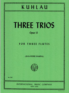 Kuhlau, F. - Three Trios, Op. 13 - FLUTISTRY BOSTON