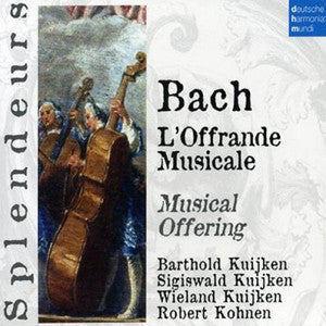 Bach Musical Offering CD (Barthold Kuijken) - FLUTISTRY BOSTON