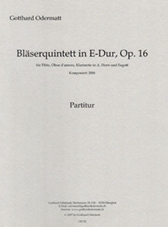 Odermatt, G. - Blaserquintett in E Major, op. 16 - FLUTISTRY BOSTON