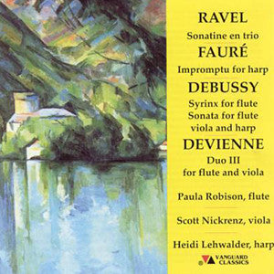 Ravel, Faure, Debussy, Devienne - Trios for flute, viola, harp CD(Paula Robison) - FLUTISTRY BOSTON