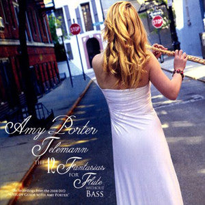 Telemann, The 12 Fantasies for Flute Without Bass CD (Amy Porter) - FLUTISTRY BOSTON