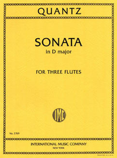 Quantz, J.J. - Sonata in D major - FLUTISTRY BOSTON