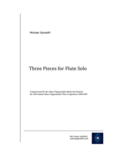 Gandolfi, M. - Three Pieces for Flute Solo