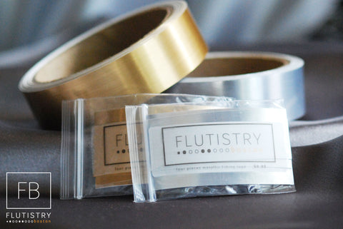 Metallic Fitting Tape - Four Pieces - FLUTISTRY BOSTON