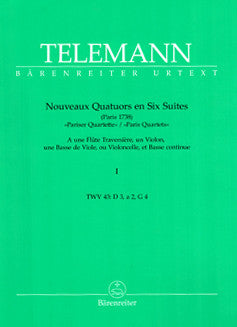 Telemann, G.P. - Nouveaux Quatuors en Six Suites (Paris Quartets) - FLUTISTRY BOSTON
