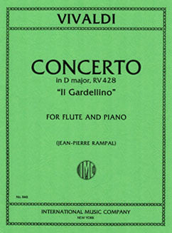 "Vivaldi, A. - Concerto in D major ""Il Gardellino"" - FLUTISTRY BOSTON"