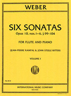 Weber, C. - Six Sonatas - Vol I - FLUTISTRY BOSTON