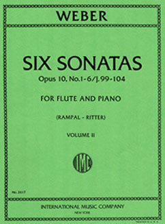 Weber, C. - Six Sonatas - Vol II - FLUTISTRY BOSTON