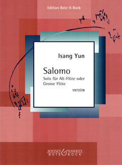 Yun, I. - Salomo for alto flute - FLUTISTRY BOSTON