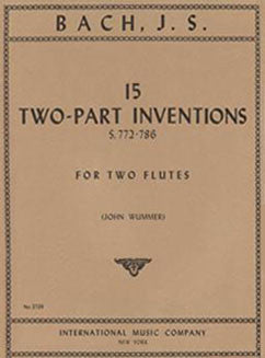 Bach, J.S. - 15 Two-Part Inventions - FLUTISTRY BOSTON