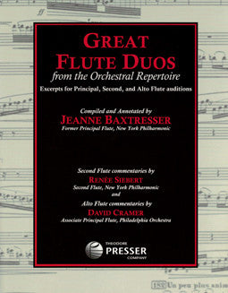 Great Flute Duos from the Orchestral Repertoire - FLUTISTRY BOSTON