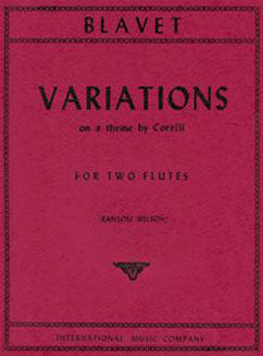 Blavet, M. - Varations on a theme by Corelli - FLUTISTRY BOSTON