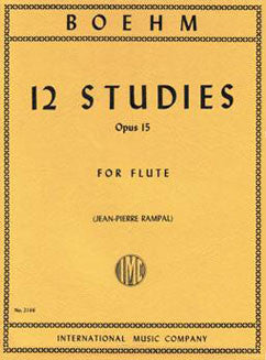 Boehm, T. - 12 Studies  Op. 15 - FLUTISTRY BOSTON