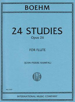 Boehm, T. - 24 Studies Op. 26 - FLUTISTRY BOSTON