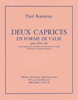Bonneau, P. - Deux Caprices en Forme de Valse - FLUTISTRY BOSTON