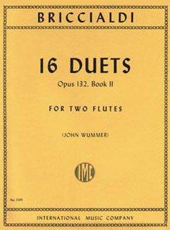 Briccialdi, G. - 16 Duets, Op. 132: Book 2 - FLUTISTRY BOSTON